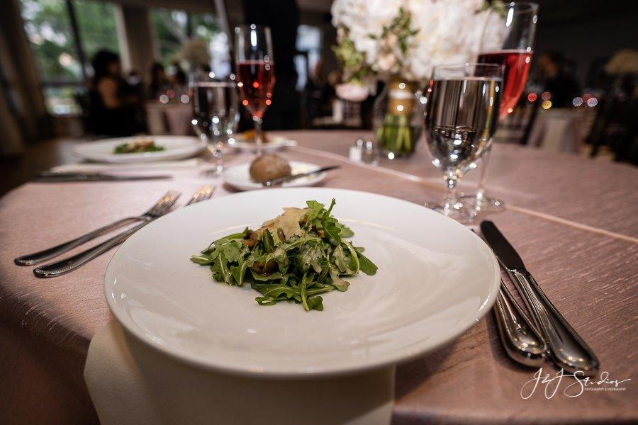 Salad Course Radnor Hunt Wedding