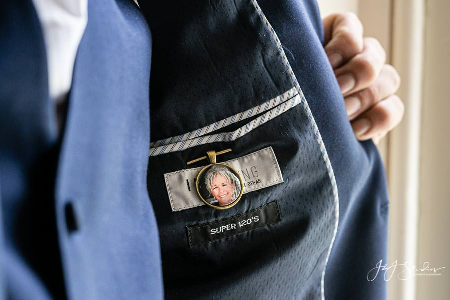 Locket with mom's portrait