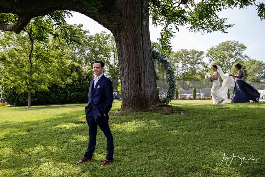 first look hilary and james radnor hunt wedding