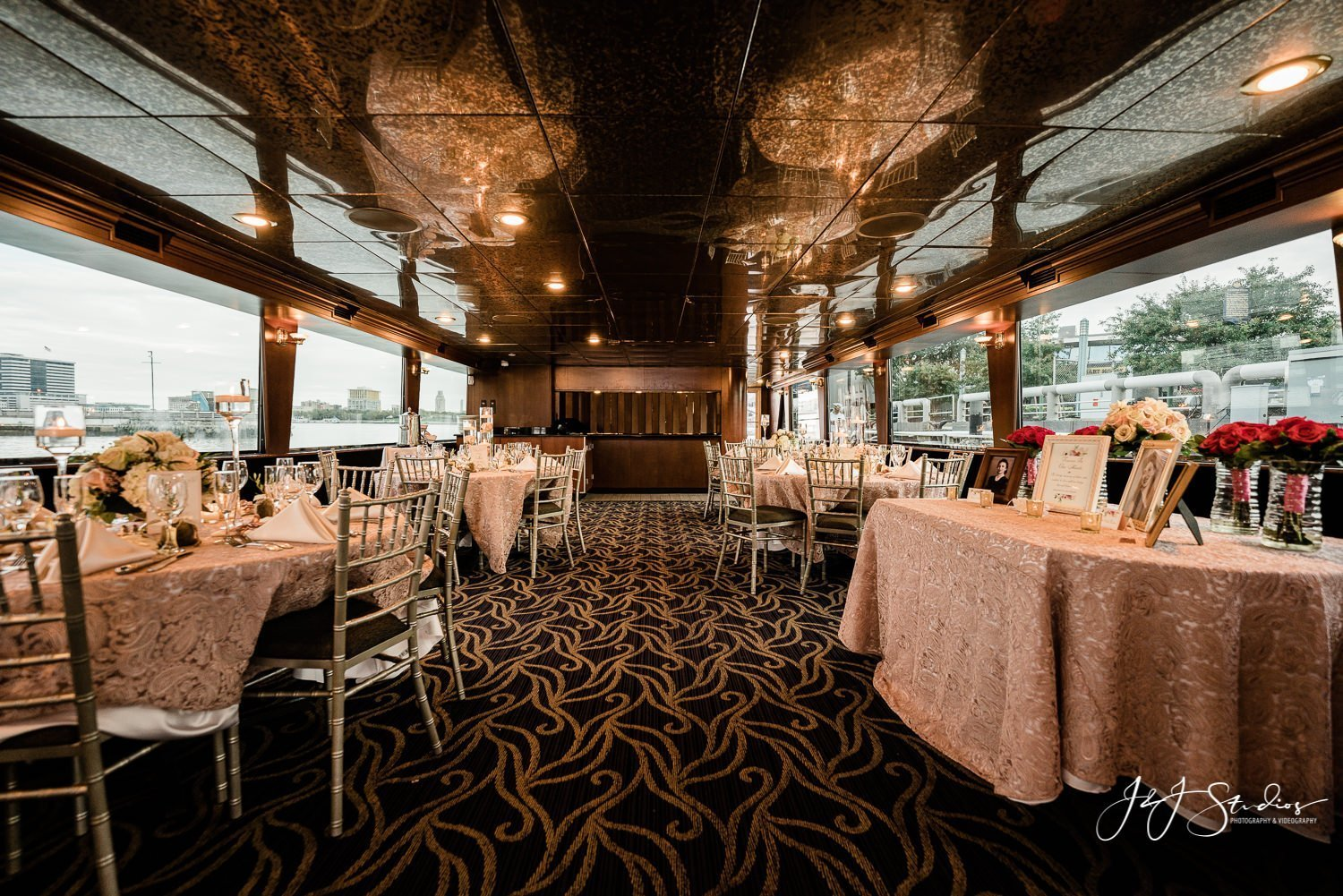 freedom elite yacht private charter wedding reception set up