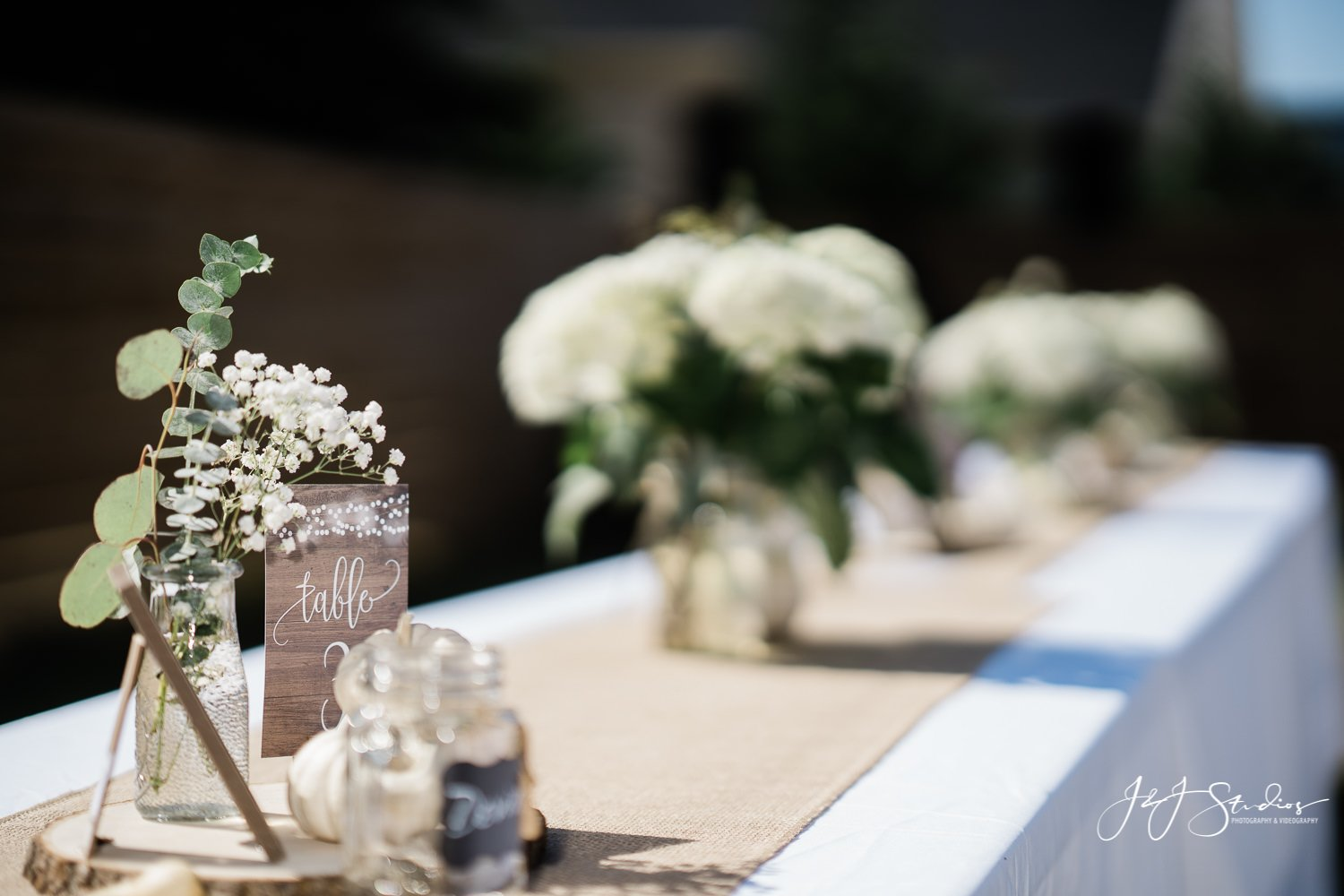 table runner baltimore home wedding DIY wedding