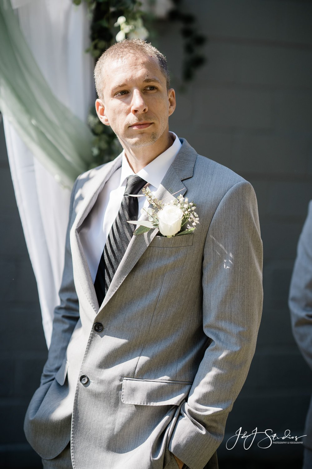 groom waits for his bride baltimore wedding photographer