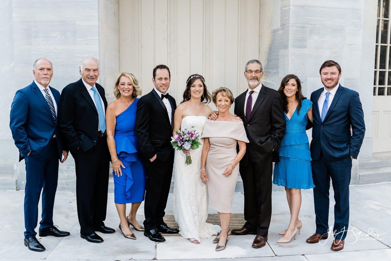 wedding family formals merchant exchange building