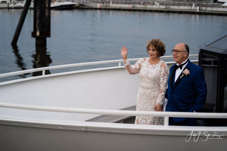 freedom elite wedding couple yacht