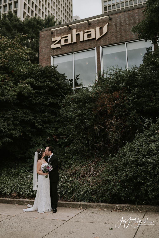 Wedding couple at zahav philly