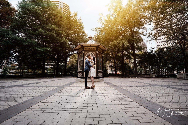 rittenhouse square engagement couple by j&j studios
