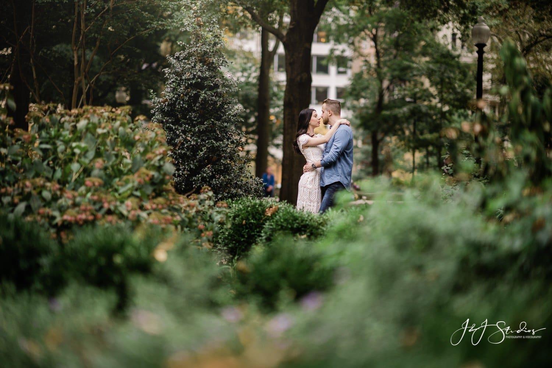 rittenhouse square park engagement photo