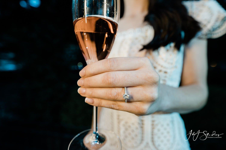 engagement ring macro shot by J&J Studios