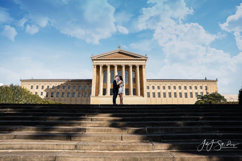 philadelphia art museum engagement photographer