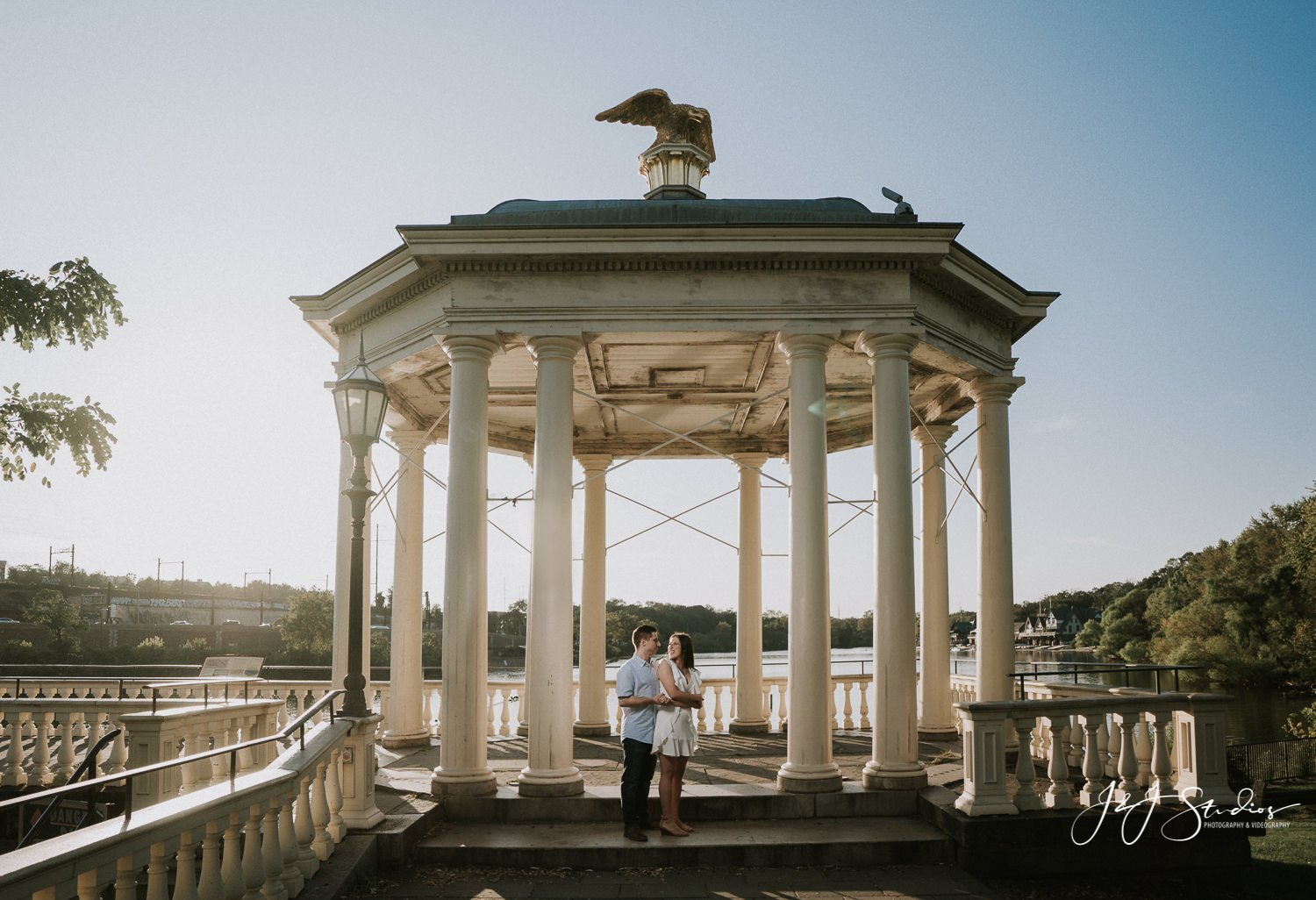 water works engagement shoot