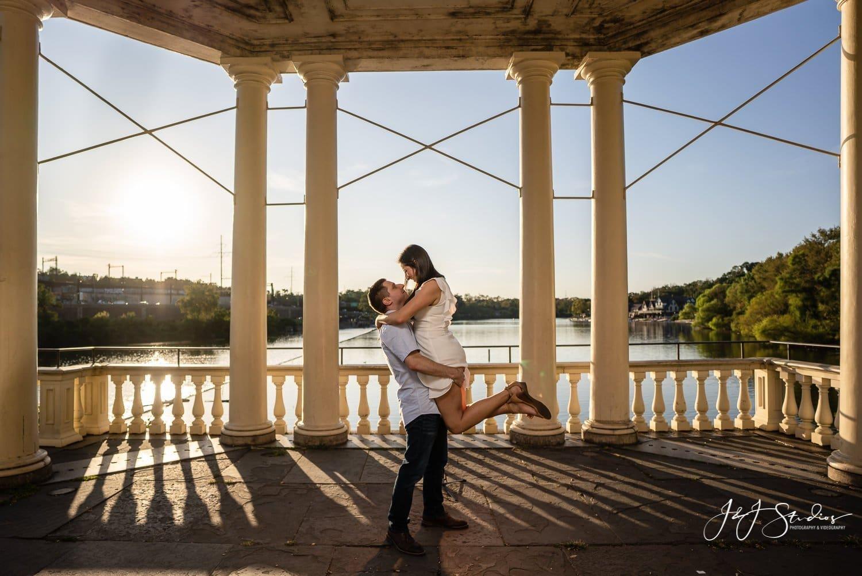 dirty dancing pose engagement shoot photo by J&J Studios