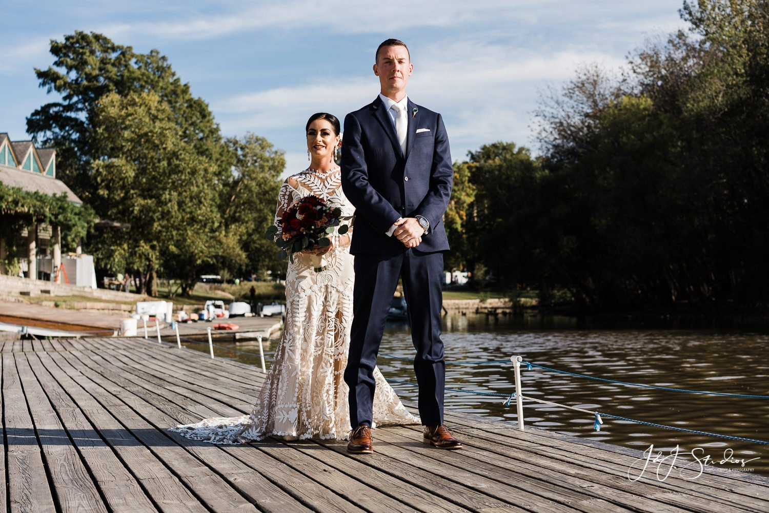 first look boathouse row wedding