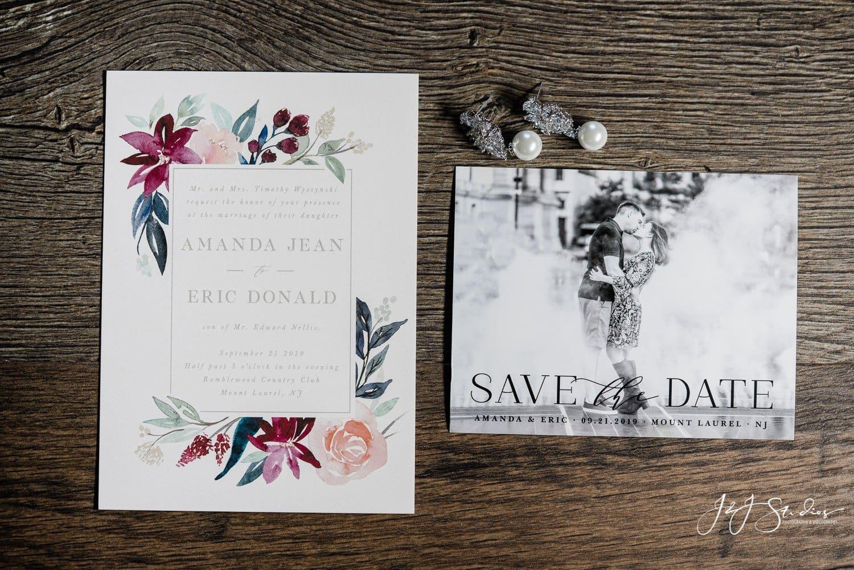 wedding invitation from minted.com ramblewood country club wedding photo by J&J Studios
