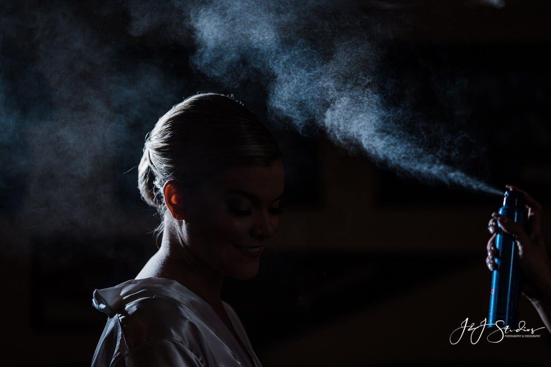 bride silhouette hairspray ramblewood country club wedding by j&J studios