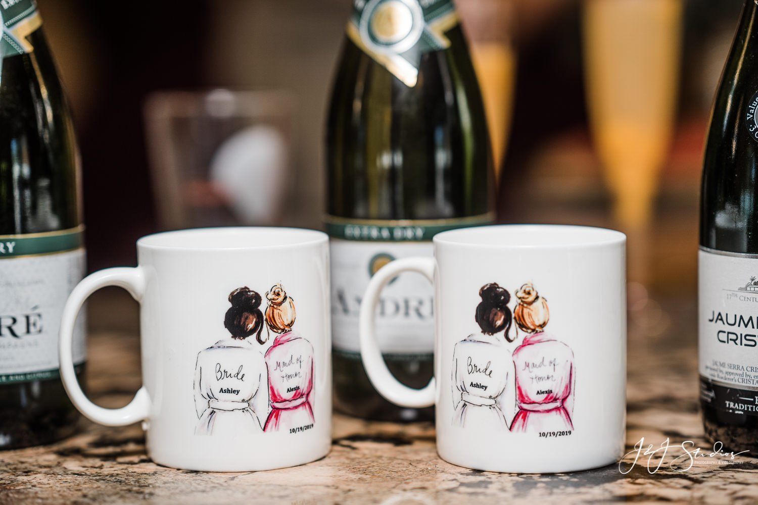 custom printed mugs with wedding date