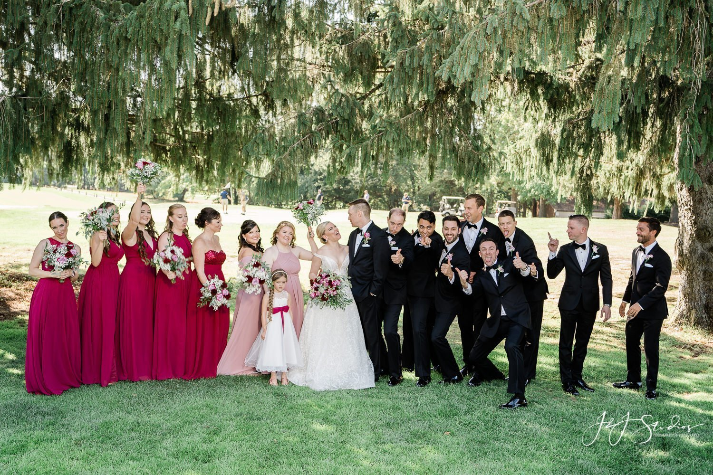 Crazy bridal party picture mount laurel nj
