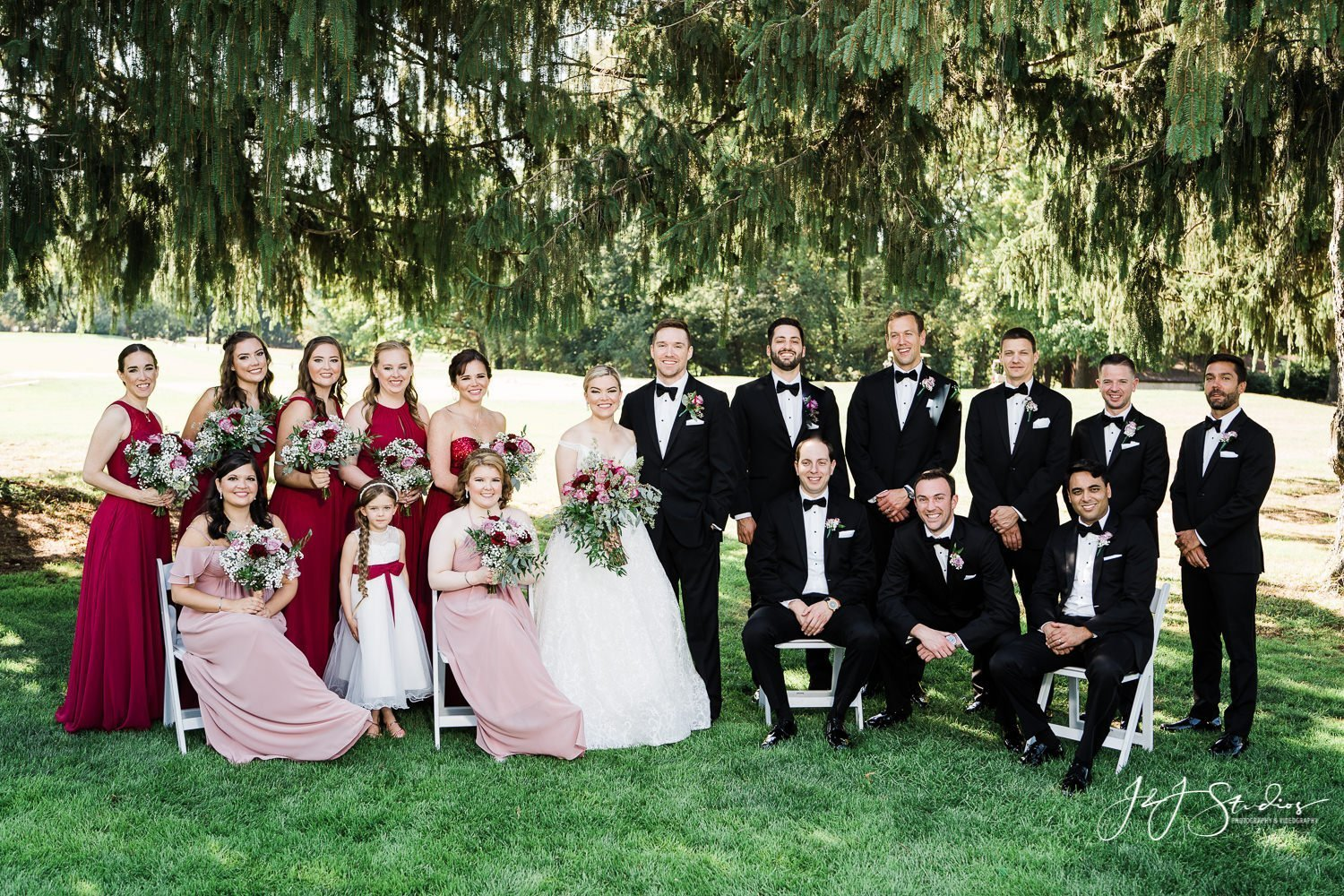 formal bridal party picture entire bridal party