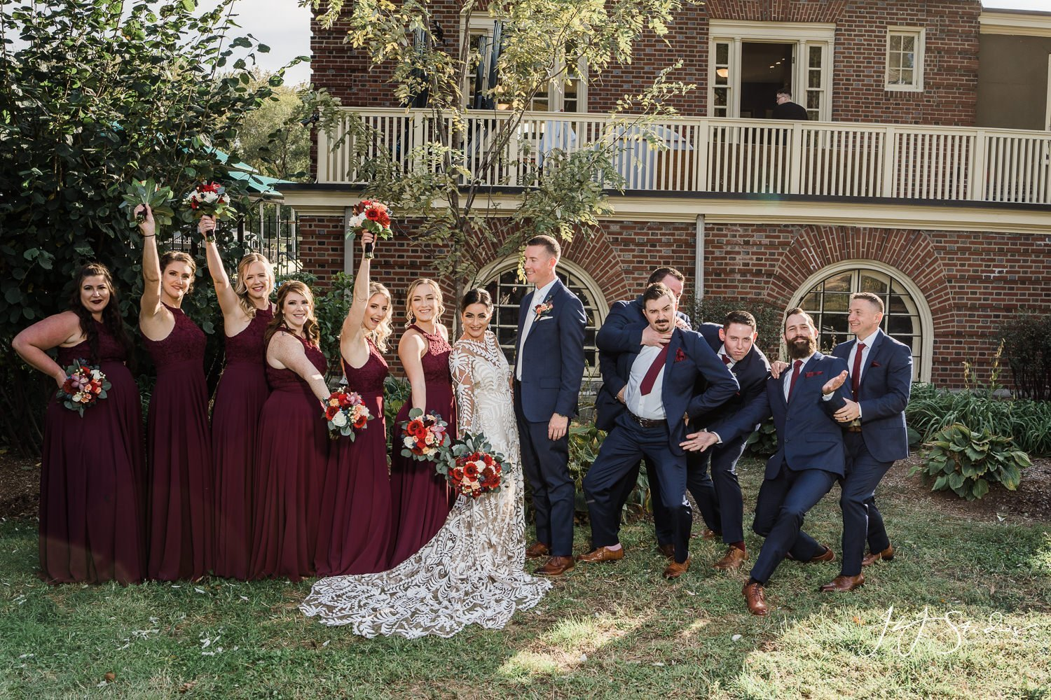 bridal party at fairmount rowing association