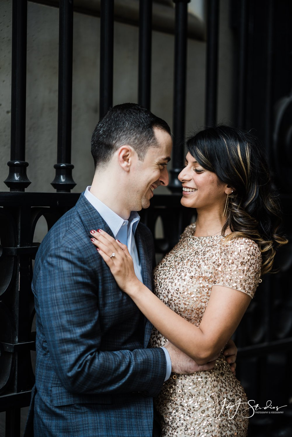 cute couple engagement in center city philly
