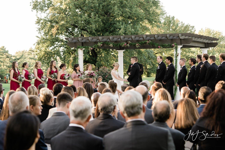 wedding ceremony bride groom ramblewood country club photo by j&j studios