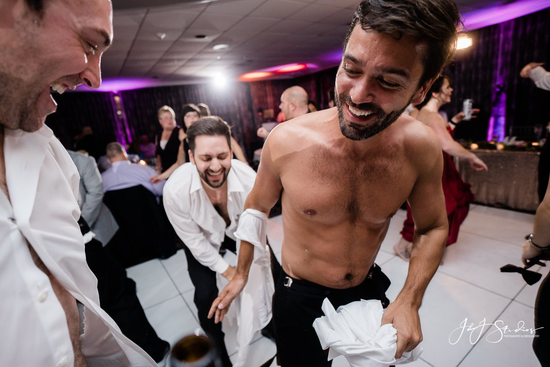 groomsmen shirt ripped off crazy nj wedding