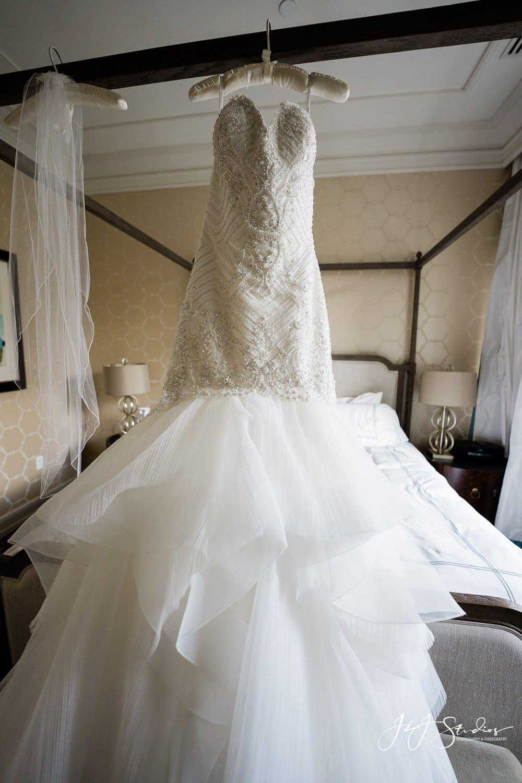 wedding dress rittenhouse hotel wedding