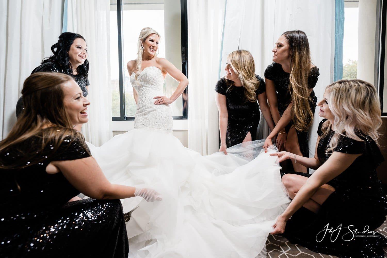 bridesmaids bride rittenhouse hotel wedding