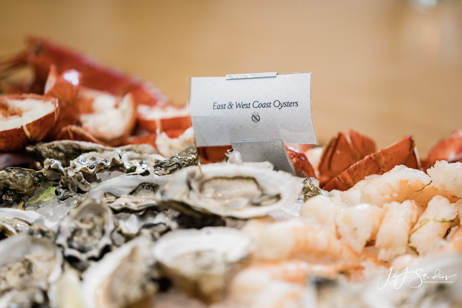 oyster and lobster wedding reception rittenhouse hotel