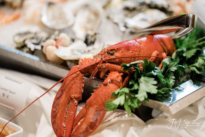 giant lobster rittenhouse hotel wedding
