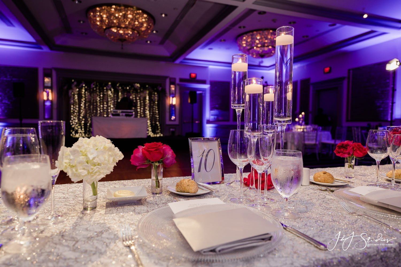 head table at rittenhouse hotel wedding reception by J&J Studios