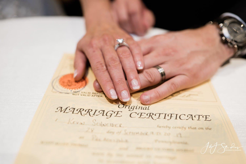 marriage license rittenhouse hotel wedding by j&j studios