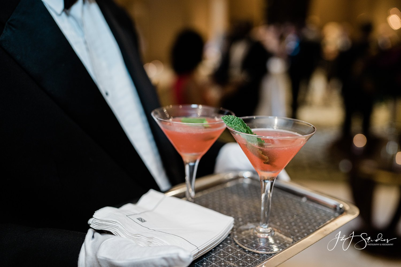 martinis at rittenhouse hotel wedding