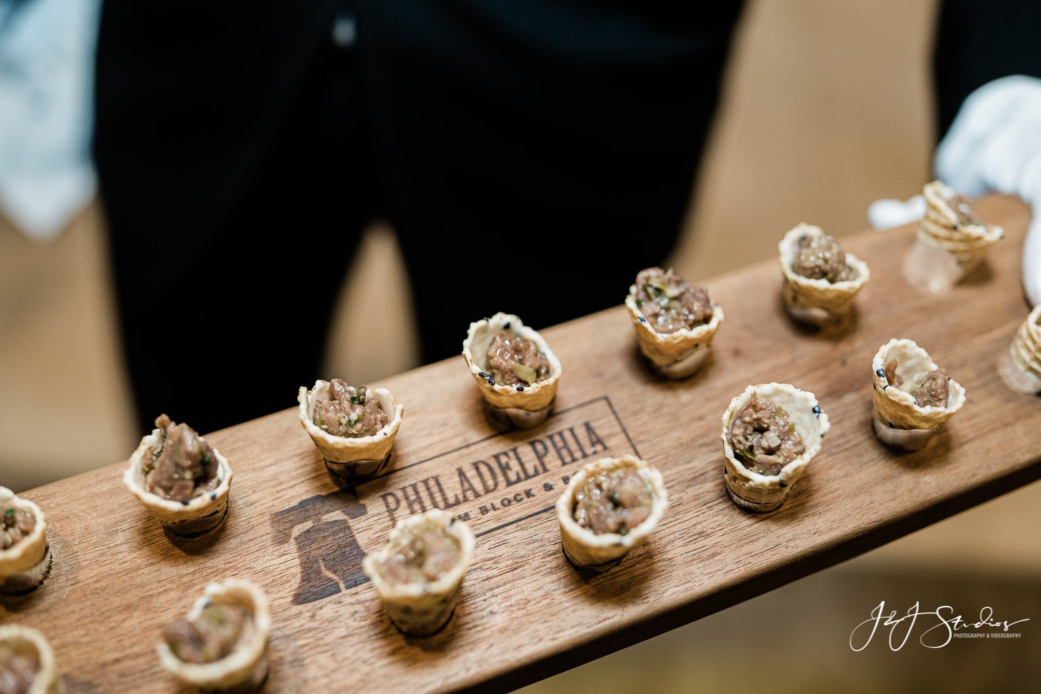 passed hors d'oeuvres rittenhouse hotel wedding