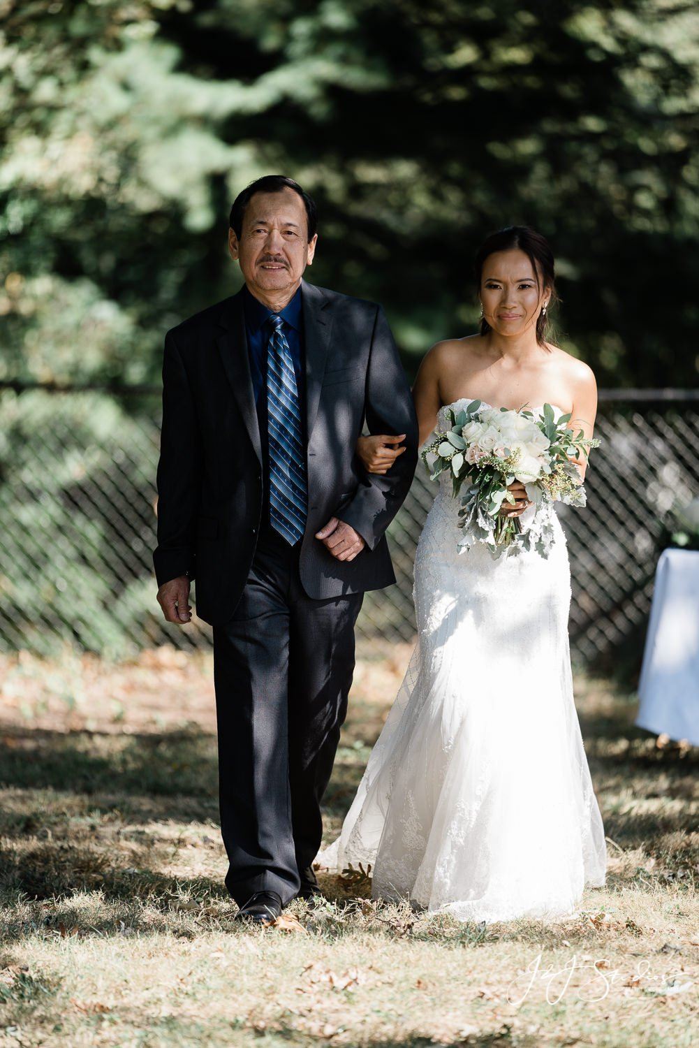 bride and bride's father walk down the aisle baltimore wedding photo by john ryan j&J studios