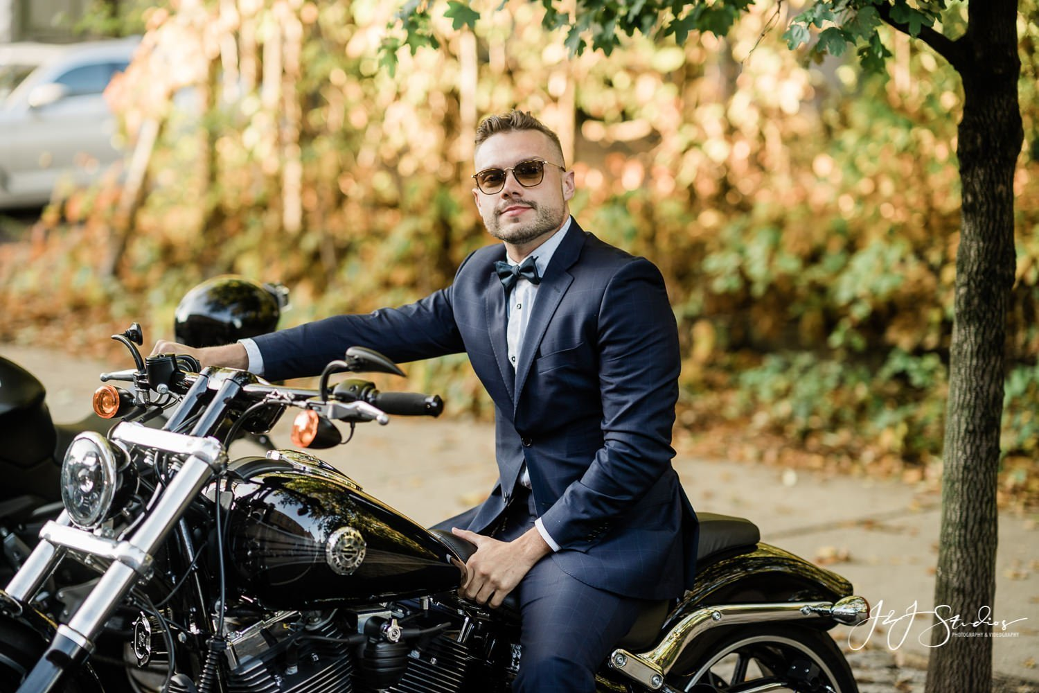 man in suit on motorcycle Distinguished Gentleman's Ride Philadelphia