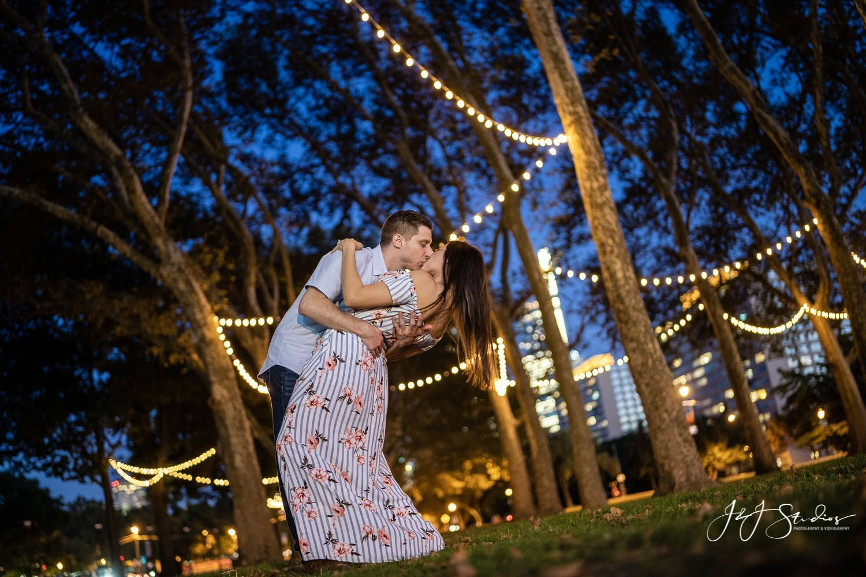 Philadelphia at night engagement