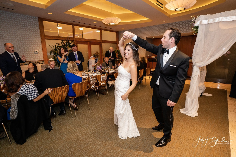 wedding couple dancing at zahav