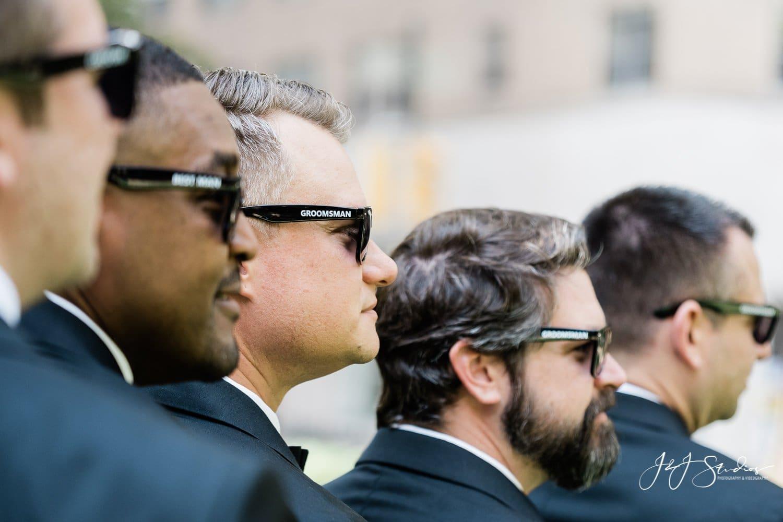 matching sunglasses rittenhouse square groomsmen