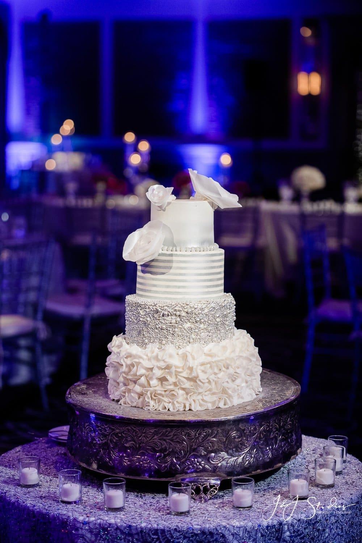 wedding cake rittenhouse hotel wedding by john ryan j&j studios