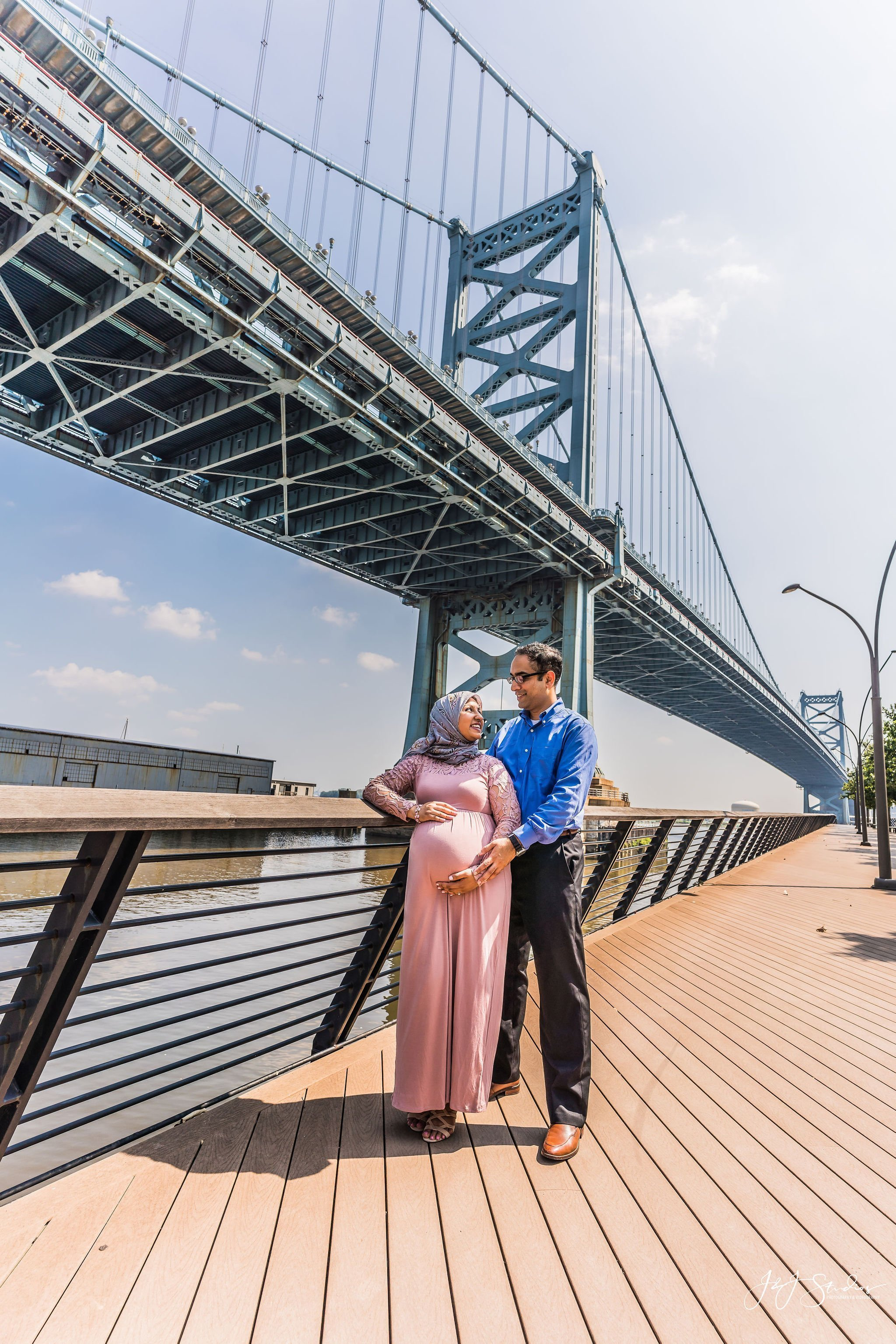 race street pier maternity shoot