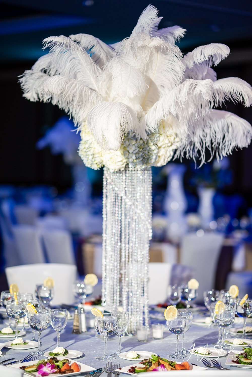 Ostrich Feather Centerpiece mae and company