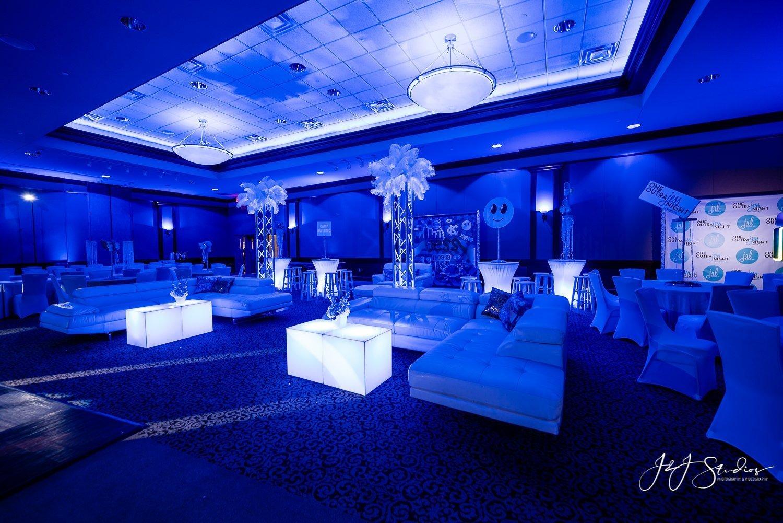wide room bat mitzvah decorations