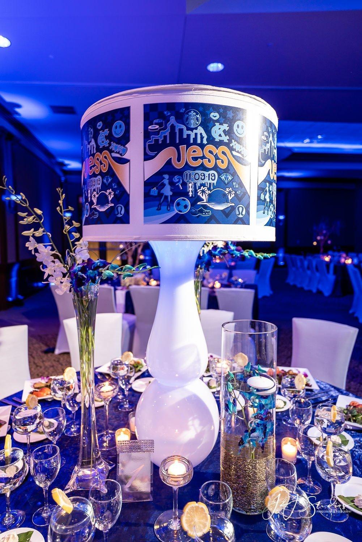 custom lampshade centerpieces nj bat mitzvah