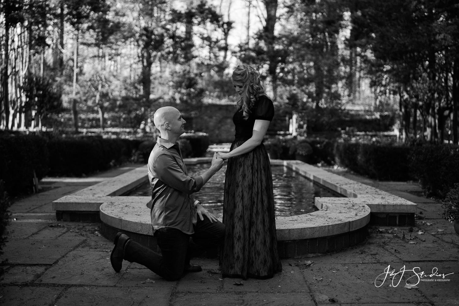 proposal at hunting hill mansion