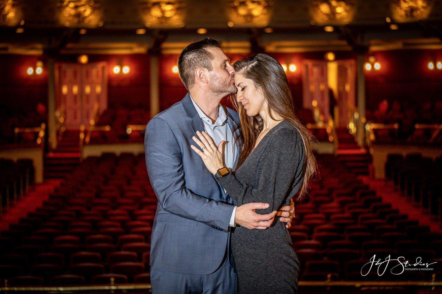 academy of music engagement shoot
