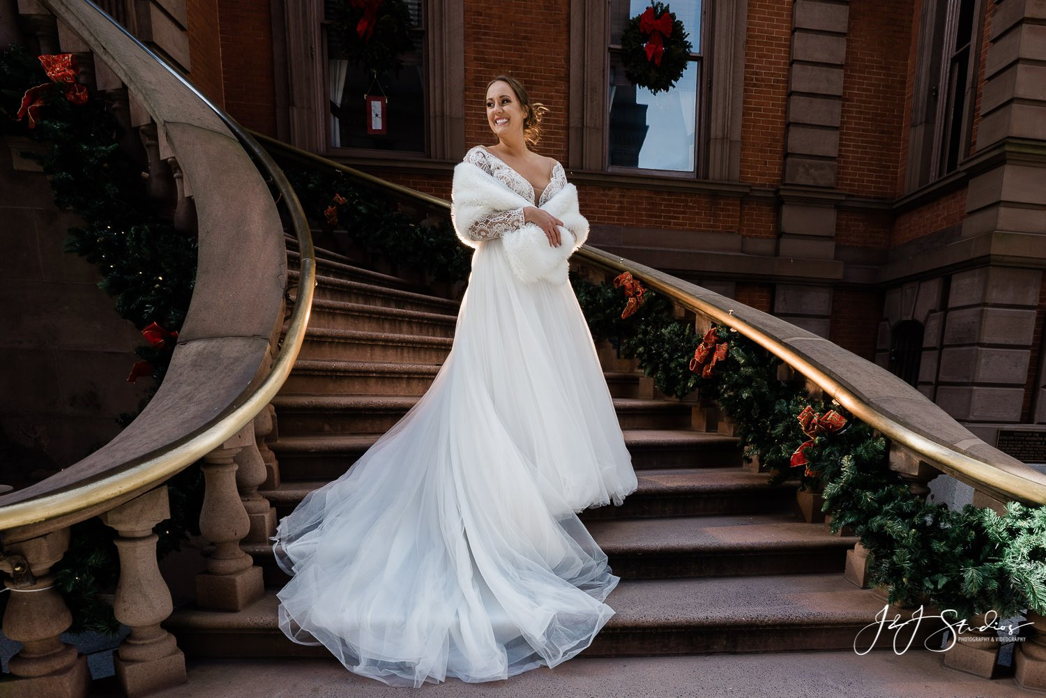 union league steps bridal portraits philly Bijou Bridal Styled Shoot