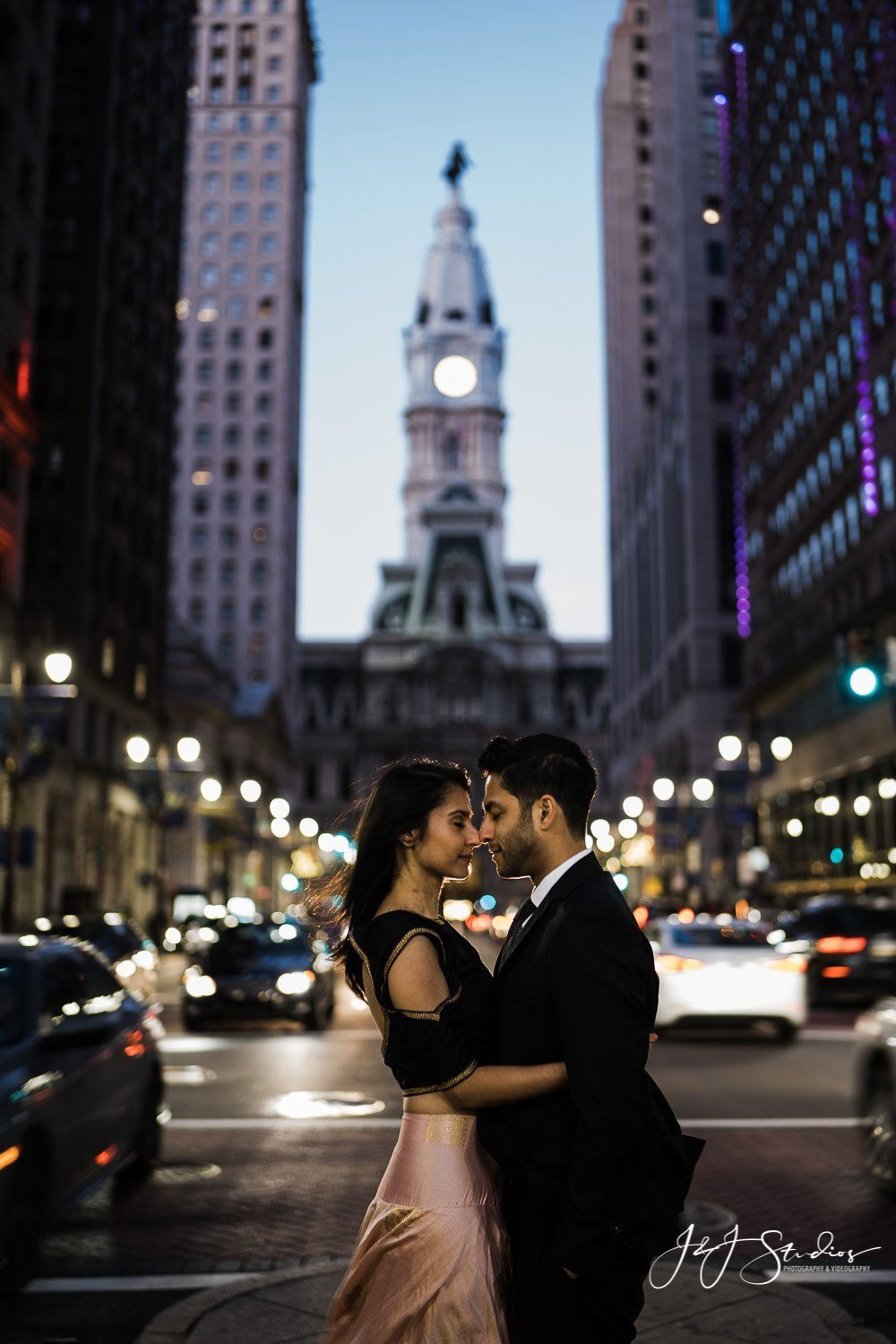 city hall engagement philly