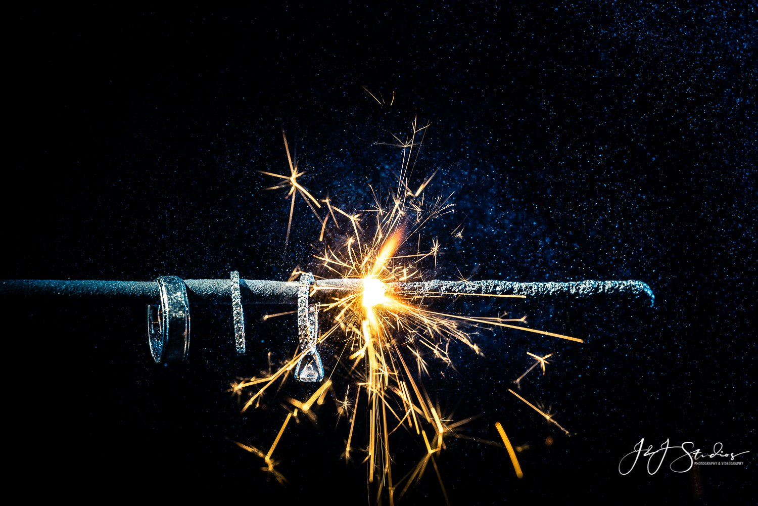 macro ring sparkler shot
