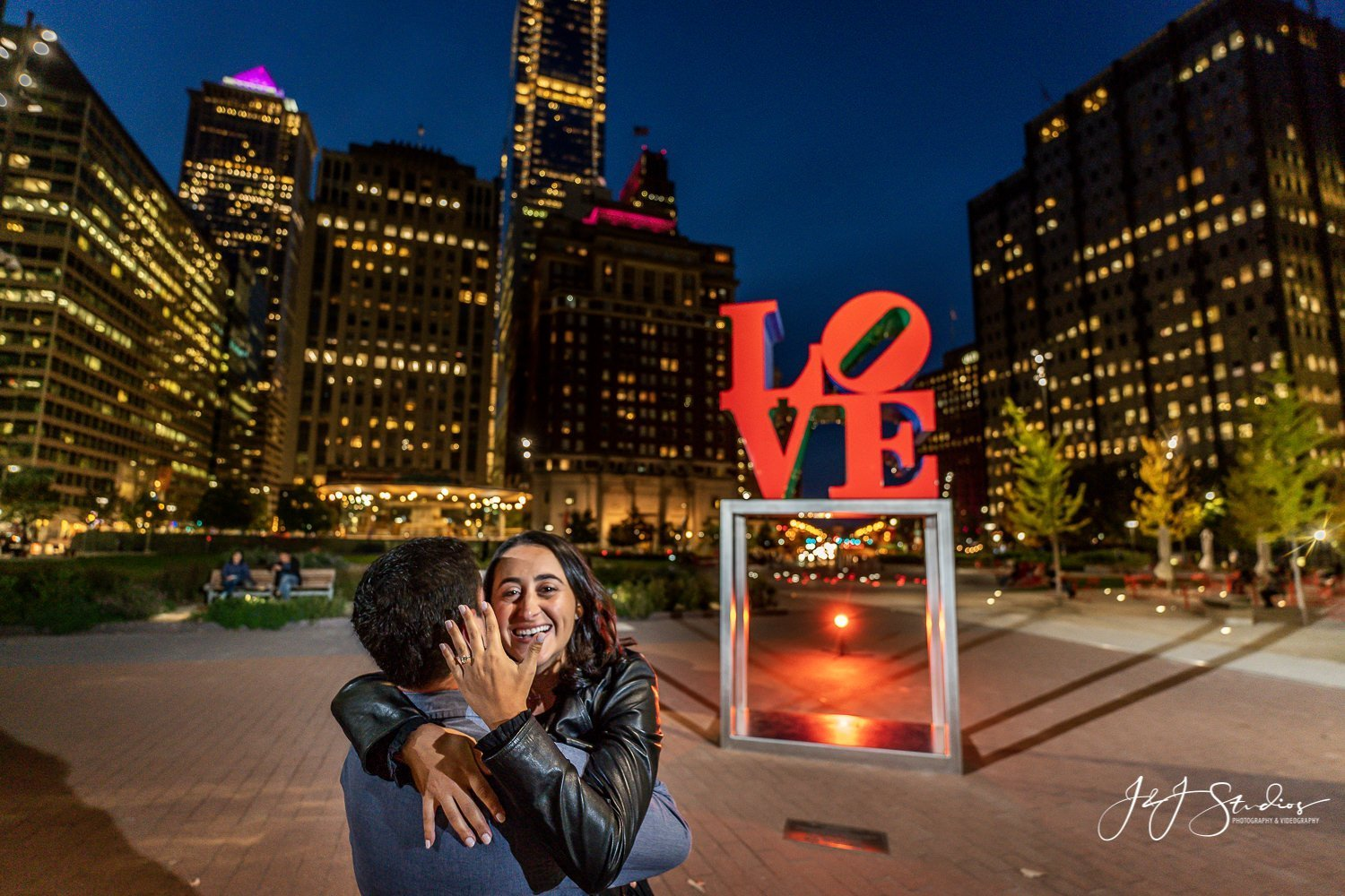 love park proposal philly pa