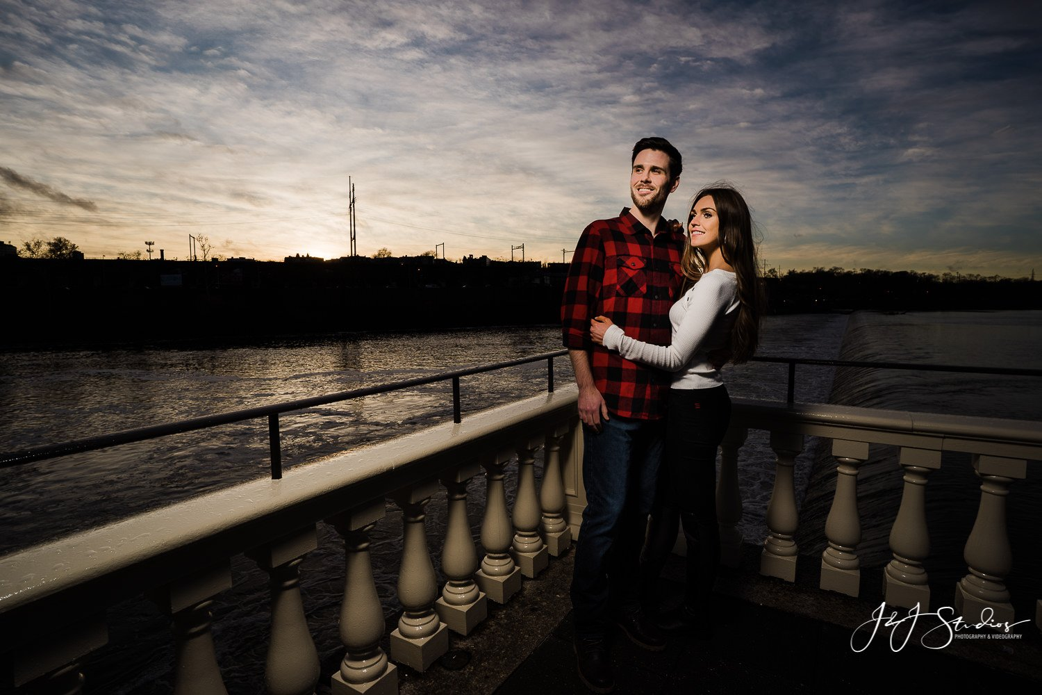 Water Works by Cescaphe engagement Fairmount Water Works Engagement Session
